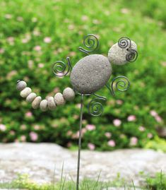 Product image for River Rock Garden Stake - Gecko