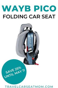 [Ad] The WAYB Pico is a revolutionary folding travel car seat designed for kids ages 2-5. It'll make your next family trip easier by decreasing the bulk of carrying a traditional toddler car seat all over the world. It's one of the best car seat for travel with young children! CLICK for an incredible 25% discount on one of the top car seats for travel. | family travel gear | family trip | family vacation | travel with kids | travel with family | #familytravel #travelwithkids #parenting Toddler Travel, Travel With Kids, Family Travel, Best Travel Apps, Travel Tips, Vacation Travel, Vacation Trips, Portable Car Seat, Forward Facing Car Seat