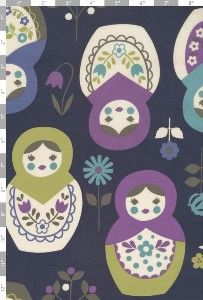 Matryoshka...Babooshka...Russian Nesting Dolls... Whatever you call em, they sure are cute! Large motifs printed on 100% cotton, quilting weight fabric that is 44 wide. Dolls measure approximately 5 in height, 3-1/2
