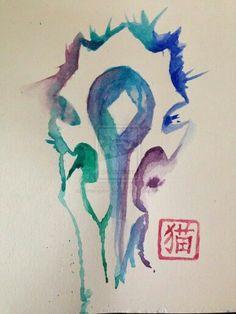 Watercolor horde symbol