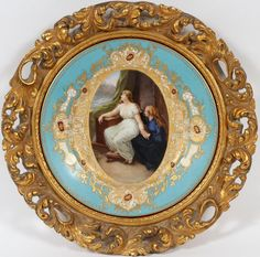 VIENNA PORCELAIN CABINET PLATE SIGNED MOHAU C. 1900 : Lot 31090