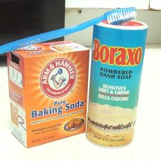 Clean Grout Grime on Tiled Floors. Clean Grout Grime on Tiled Floors Combine 1 part Borax, 2 parts Baking Soda, and 2 parts water to clear out that funky grime between tiles. Use this in the kitchen and bathroom. Cleaning Solutions, Cleaning Hacks, Clean Hairbrush, Powder Soap, Soda Brands, Cleaning Appliances, Grout Cleaner, Clean Freak, Diy Cleaners
