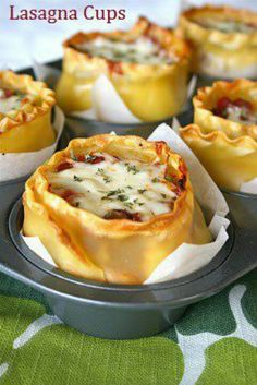 omg these are so great! lasagna cups