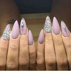 Stunning stiletto nails.