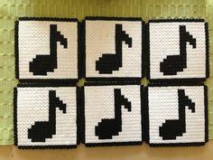 Music coasters hama beads - Marine Pixel Art Créations