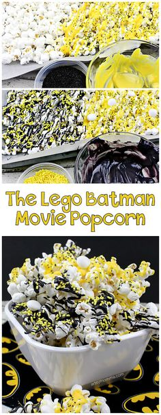 The Lego Batman Movie Inspired Popcorn Tutorial Are your kids Batman fans or obsessed with all things Lego? Check out this super fun The Lego Batman Movie inspired popcorn tutorial! Lego Batman Party, Batman Food, Batgirl Party, Lego Batman Birthday, Lego Batman Movie, Superhero Birthday Party, 6th Birthday Parties, Kids Batman, 4th Birthday