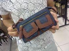 carteira de mão jeans - Pesquisa Google