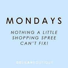 Mondays aren't so bad :) delilahboutique.com