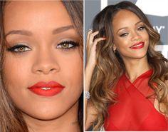get the look - red lips rihanna gramy 2013 makeup - maquiagem rihanna - tudo make 02