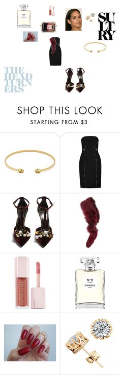 """""""homecoming"""" by kudvmj on Polyvore featuring Gucci, Versace, Lanvin, Charlotte Simone, Puma, Chanel and Irene Neuwirth"""
