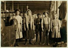 Lewis Wickes Hine (1874 - 1940) began photographing immigrants at Ellis Island in New York Harbor around 1904, then documented their lives in tenements in New York City. In 1908, he became the photographer for the National Child Labor Committee (NCLC), an organization trying to outlaw child labor. For a decade, he took photographs of children working in coal mines, factories, canneries, fields, and mills.