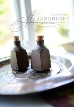 2 Unique Handmade ceramic Bottles  Marked Handmade by Maranghouse, $57.30