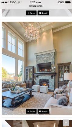 #livingroom #fireplace #vaulted