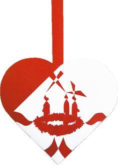 Tredje Søndag i Advent | Julehjertedesign.dk: skabeloner til flotte og unikke julehjerter til juletræet. Traditional Danish Christmas hearts for unique paper art.