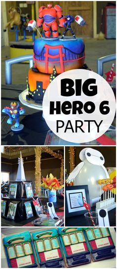 This cool Big Hero 6 party is held at a zoo! See more party planning ideas at CatchMyParty.com!