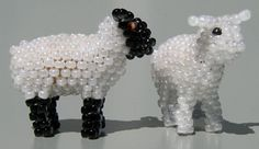 3D Sheep beading Pattern by Ruth Kiel at Sova-Enterprises.com