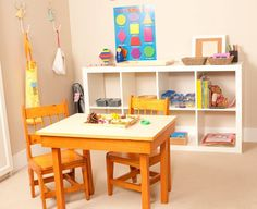 Montessori at home. Clean and simple shelf system- sweet table