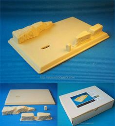 Kit Diorama Rally   4 piezas de resina (escala 1/32), para montar y pintar: Peana + murete + barrera de piedra + hito km.  4 resin pieces (1/32 scale): Base + wall + stone barrier + milestones to assembly and paint  #kit #diorama #resin #resina #parking #diy #forsale #enventa #miniature #toy #slot #scalextric #132scale #toy #juguete #base #shipping #order #assembly #montar #pintar #paint #wrc #rally