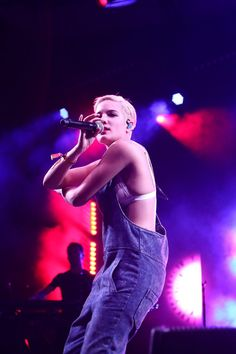 Halsey performs during the 2015 Life is Beautiful festival on September 27, 2015 in Las Vegas, Nevada.