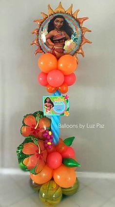Image result for moana balloon column