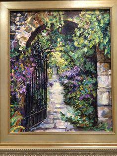 """""""Echoes of Giverny"""". Oil on canvas. Www.amandadunbar.com"""