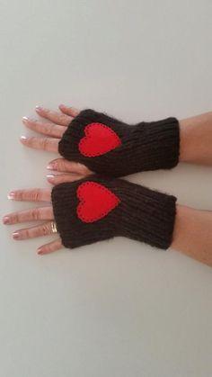 Fingerless glovesknit glovesknitted by SkyHandmadeShop on Etsy