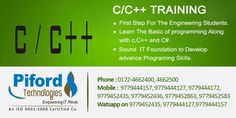 C and C++ Training in Chandigah, Mohali and Panchkula.  Piford is a USA based software development company and we also provide Six Weeks & 6 Months Industrial Training Chandigarh, Mohali & Panchkkula with live projects.  Watsapp On : 9779452435, 9779444127 & 9779444157  Call Us : 0172-4662400, 4662500, 9779444157, 9779444127, 9779444172, 9779452435, 9779452436, 9779452863 and 9779452583  Address : PIFORD TECHNOLOGIES 2nd FLOOR IT C-7, KMG Towers, IT Park, Sector 67, Mohali-160062 Punjab…