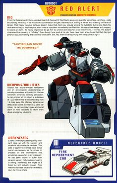 Transformers Universe - Gallery: G1 Red Alert