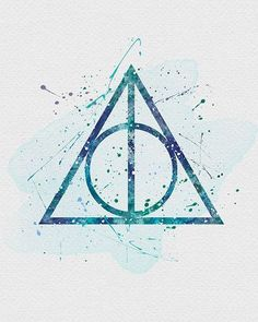 Harry Potter The Deathly Hallows Watercolor Art Harry Potter Die Heiligtümer des Todes Aquarellkunst Harry Potter World, Magie Harry Potter, Arte Do Harry Potter, Harry Potter Deathly Hallows, Harry Potter Films, Harry Potter Universal, Harry Potter Fandom, Garri Potter, Hogwarts