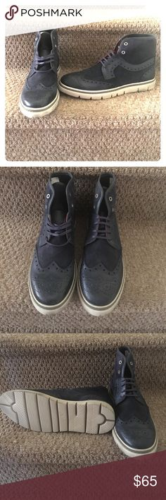KENNETH COLE MEN'S SHOES SZ 12 Kenneth Cole  NEVER WORN  SZ 12  Navy Leather  Men's Shoe Kenneth Cole Shoes Boots