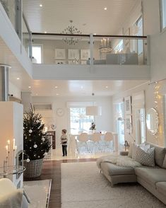 Very light and airy, bright living room. - Very light and airy, bright wo . Home Living Room, Living Room Designs, Home Interior Design, Interior Architecture, Modern House Design, House Rooms, My Dream Home, Dream Homes, Home Fashion