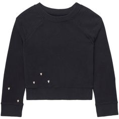 Gem&i - Hearts Cropped Sweater (224325 PYG) ❤ liked on Polyvore featuring tops, sweaters, gem top, crop top, cropped sweater, cut-out crop tops and ribbed sweater