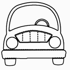 Coche con cartulina. Molde. Template. Car Transportation Theme Preschool, Cardboard Car, Quiet Book Templates, Baby Shawer, Fathers Day Crafts, Party Props, Kids Church, Exercise For Kids, Craft Activities For Kids