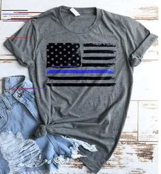 Police Shirt / Police USA Flag Shirt / Tank Top / Police Wife / Law Enforcement / Thin Blue Line/ Blue Lives Matter / Police Officer Shirt by TeeKittyKitty Police Girlfriend, Police Wife Tattoo, Police Wife Life, Back The Blue Shirt, Police Officer Gifts, Police Police, Police Shirts, Leo Wife, Police Lives Matter