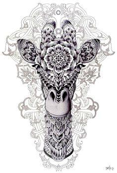 Giraffe Illustration by BioWorkZ