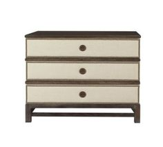 Remy Three Drawer Upholstered Chest in Group One Fabrics from the Atelier collection by Hickory Chair Furniture Co.