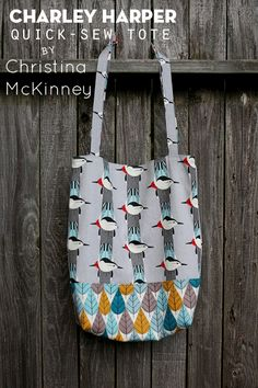 Tutorial: Charley Harper Quick-Sew Tote {by Christina McKinney}