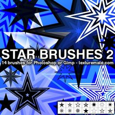 Star 2 Brush Pack for Photoshop or Gimp | texturemate.com - Free Textures, Brushes, Patterns, and Design Articles!