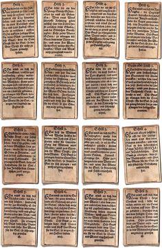 Geistliche Karten, Augsburg, 1718 Divination Cards, Animal Print Rug, Augsburg, Cards
