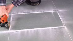 FEIN MultiMaster & Removing Damaged Tile #diy #remodeling #flooring