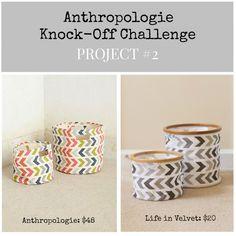 Anthropologie Inspired Canvas Basket