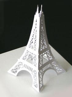 Large Eiffel Tower paper die cut decoration for your Paris themed party