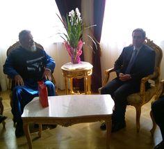 Συνάντηση με τον Μακαριώτατο Αρχιεπίσκοπο Νέας Ιουστινιανής και Πάσης Κύπρου κ.κ. Χρυσόστομο [16/2/2012]
