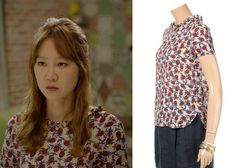 "Gong Hyo-Jin 공효진 in ""It's Okay, That's Love"" Episode 3. Le Shop Pineapple Print Shirt #Kdrama #ItsOkayThatsLove 괜찮아, 사랑이야 #GongHyoJin"