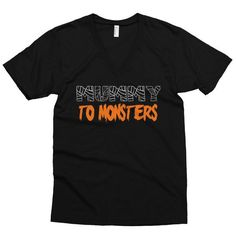 'Mummy To Monsters' V-neck Tee