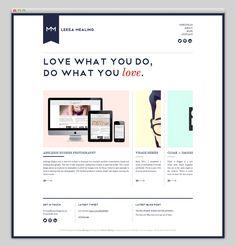Website Portfolio {love the arrows and hierachy} // Leesa Mealing
