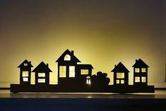 Nowele Domowe : Kalendarz adwentowy , miasto i droga do mikołaja DIY + Poster Store. Superhero Logos, Magnolia, Table Lamp, Lighting, Diy, House, Home Decor, Poster, Table Lamps