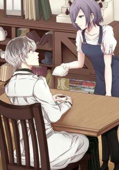 Sasaki-Kaneki & Touka     Tokyo Ghoul re: // More like Tokyo Ghoul fe:ELINGS