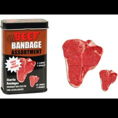 Beef bandaids. Totally using these for the 2013 Cattlemen's Gift Guide!!