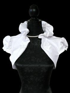 Brautjacke mit Kragen Taft